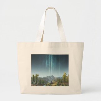 Rivers Flowing To The Sky Large Tote Bag