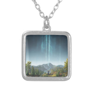 Rivers Flowing To The Sky Silver Plated Necklace
