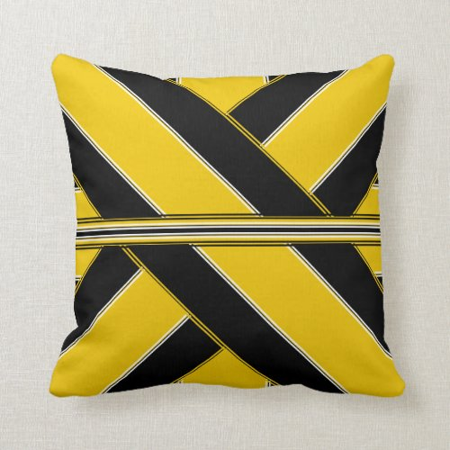 Rivers of Oil and Gold Throw Pillow