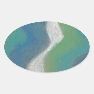 rivers oval sticker