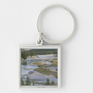 Rivers run through a lowland section of Jasper Keychain