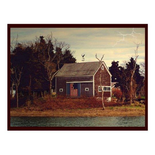 Riverside Barn Postcard