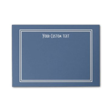 Beach Themed Riverside Blue w/ White Borders Fall 2016 Trends Post-it Notes