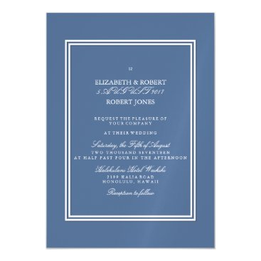 Beach Themed Riverside Blue with White Wedding Detail Magnetic Card