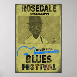 Riverside Blues Festival Poster
