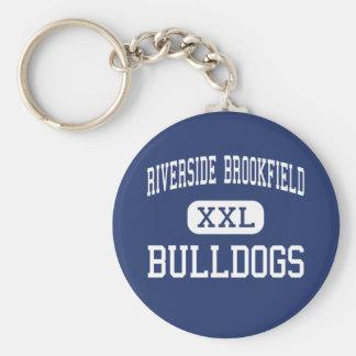 Riverside Brookfield - Bulldogs - High - Riverside Basic Round Button Keychain