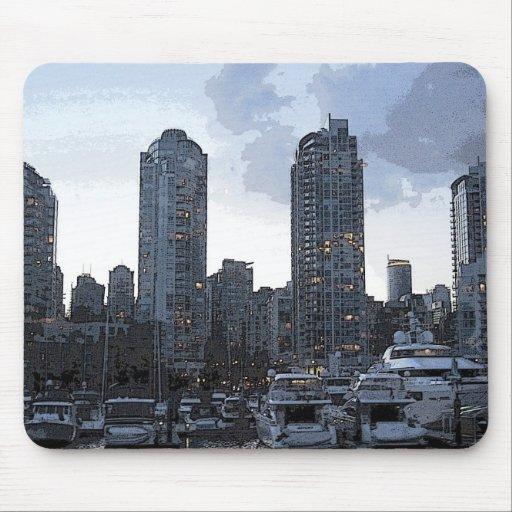 Riverside Buildings Mousepad