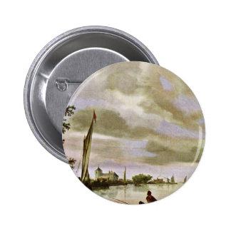 Riverside By Ruysdael Salomon Van (Best Quality) Button