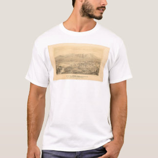 Riverside, CA. Panoramic Map 1877 (1404C) T-Shirt