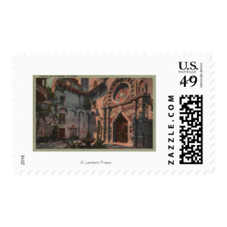 Riverside, CA - View of Mission Inn Courtyard Postage