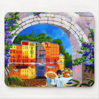 Riverside Cafe Mouse Pad