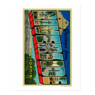 Riverside California - Large Letter Scenes Post Card