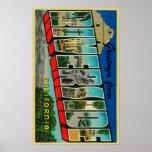 Riverside, California - Large Letter Scenes Poster