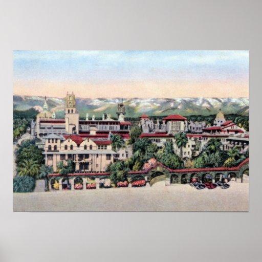 Riverside California Mission Inn Poster