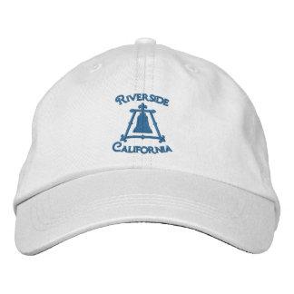 Riverside, California Raincross Fleur Design Embroidered Baseball Hat
