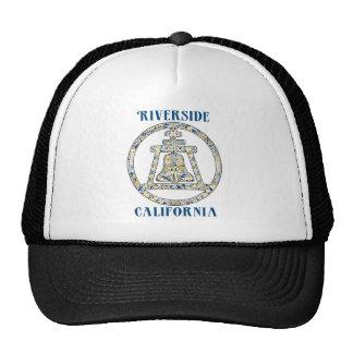 Riverside, California Raincross Trucker Hat