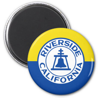 Riverside, California, United States flag 2 Inch Round Magnet