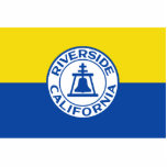 Riverside, California, United States flag Photo Cut Out