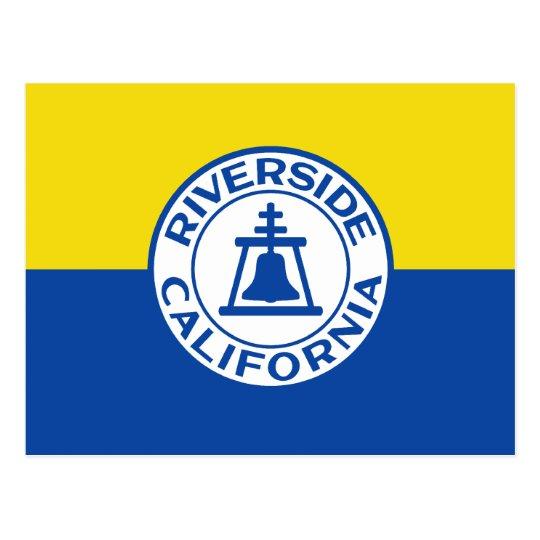 Riverside, California, United States flag Postcard