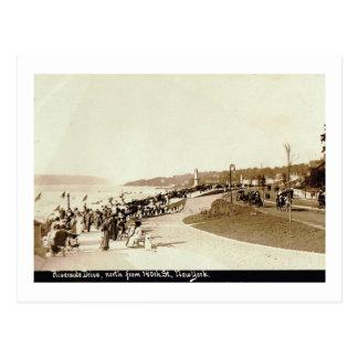 Riverside Dr., 140th St. New York City Vintage Postcard