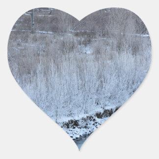 Riverside Frozen Heart Sticker