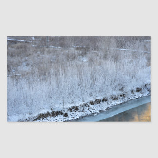 Riverside Frozen Rectangular Sticker
