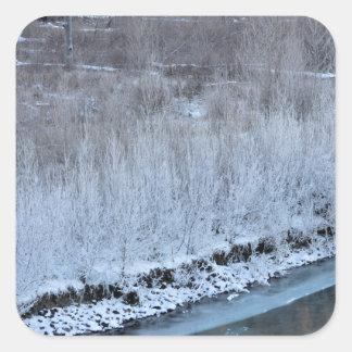 Riverside Frozen Square Sticker