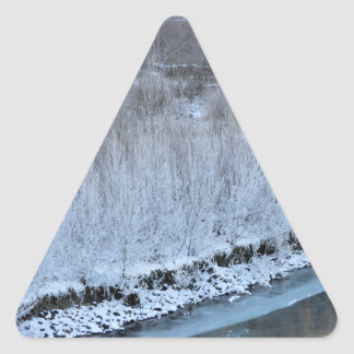 Riverside Frozen Triangle Sticker