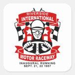 Riverside International Raceway Square Sticker
