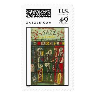 riverside jazz  postage stamp