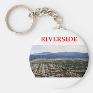 riverside basic round button keychain