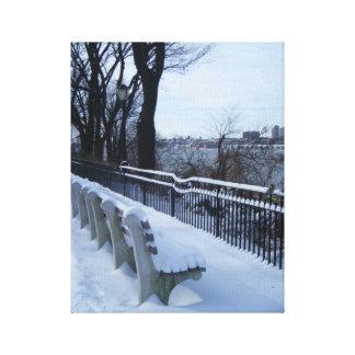 Riverside Park NYC Winter Snow New York City Photo Canvas Print