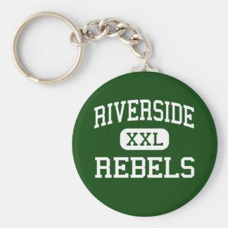 Riverside - Rebels - High - Dearborn Heights Basic Round Button Keychain