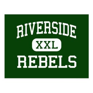 Riverside - Rebels - High - Dearborn Heights Postcard