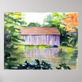 """RIVERSIDE REFLECTIONS"" - ART - HARRIET DAVIDSOHN POSTER"