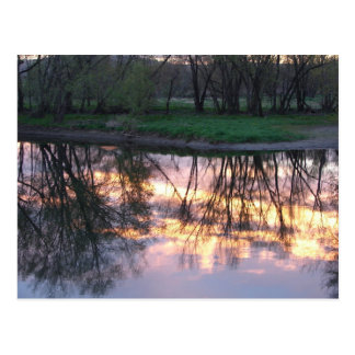 Riverside Reflections- Postcard