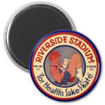 Riverside Rolling Rink Washington DC 2 Inch Round Magnet