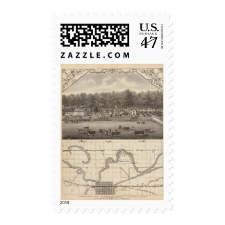 Riverside stock Farm, NE of Concordia, Kansas Postage