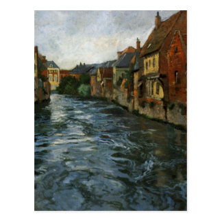 Riverside, View of Abbeville by Frits Thaulow Postcard