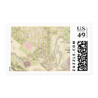Riverside Woolen Mills Atlas Map Postage