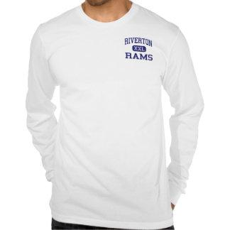 Riverton pega la escuela secundaria Riverton Kansa Camisetas