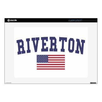 """Riverton US Flag 15"""" Laptop Skin"""