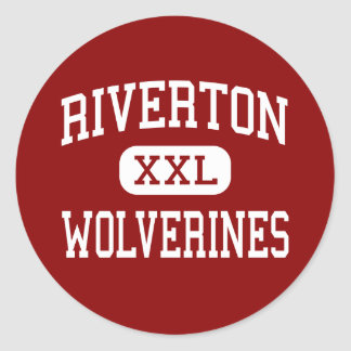Riverton - Wolverines - High - Riverton Wyoming Classic Round Sticker