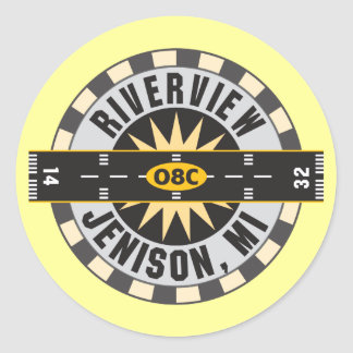 Riverview 08C Classic Round Sticker