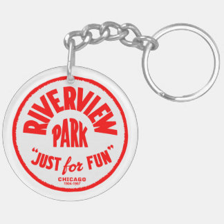 Riverview Amusement Park, Chicago, Illinois Double-Sided Round Acrylic Keychain