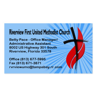 Riverview First UMC Office Manager Double-Sided Standard Business Cards (Pack Of 100)