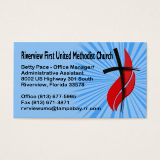 Riverview First UMC Office Manager Business Card