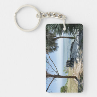 Riverview No. 1 Personalized Single-Sided Rectangular Acrylic Keychain