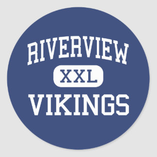 Riverview Vikings Middle Memphis Tennessee Round Sticker