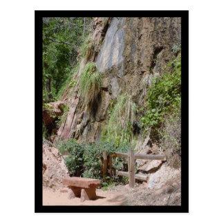 riverwalk bench postcard